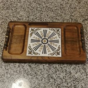 Cheese and crackers table tray